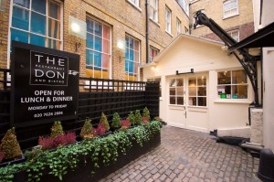 The Courtyard of the wine restaurant in the City of London the Don