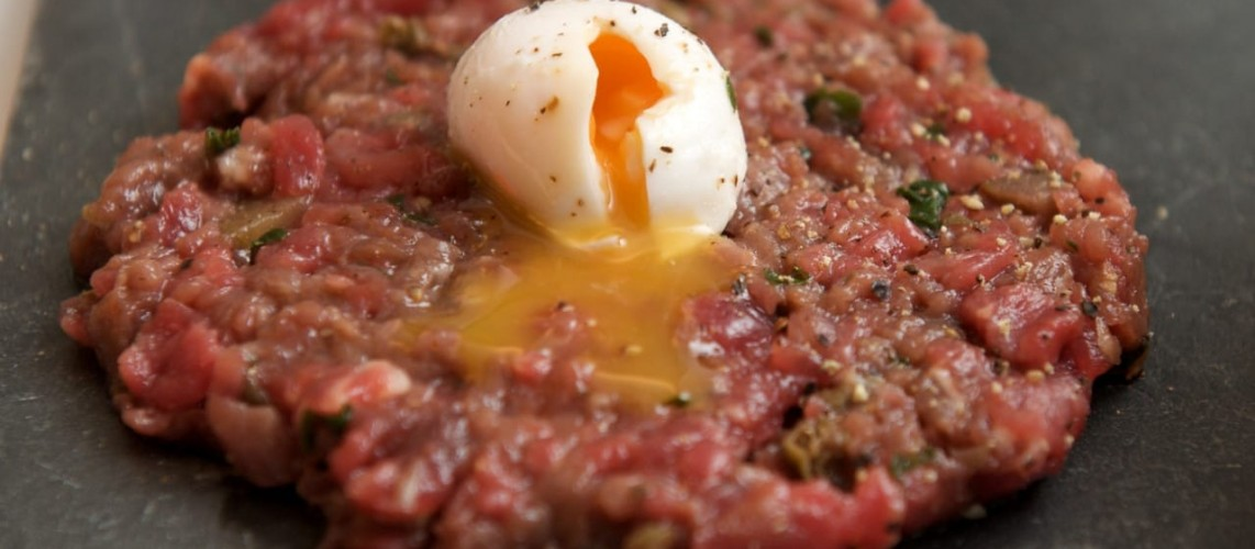 Steak Tartare served at the Don Restaurant in the city of London
